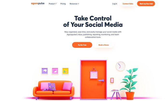 Social media management tool - AgoraPulse
