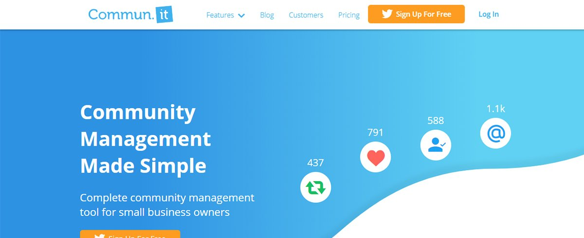 Twitter management tool - Commun.it