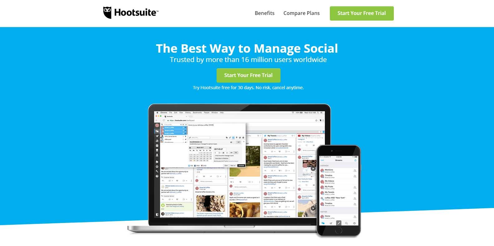Pinterest tool - HootSuite