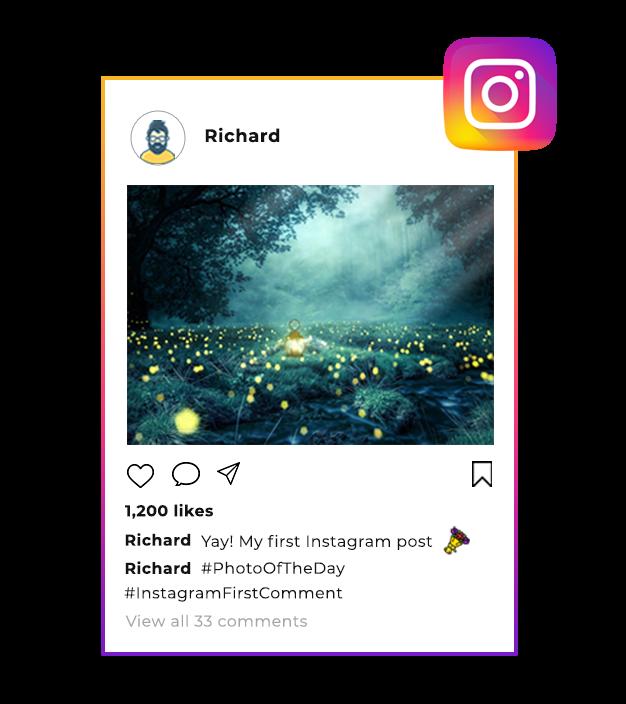 instagram-first-commet