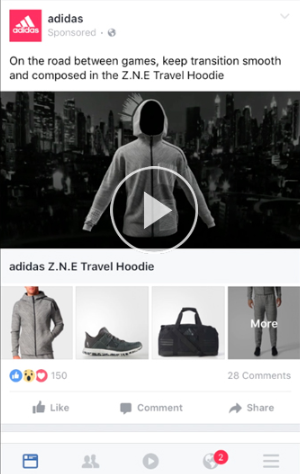 Utilize collection ads
