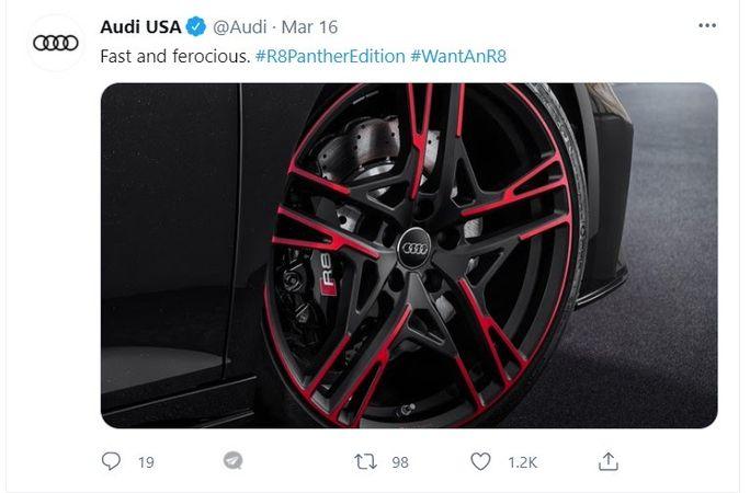 Audi hashtag campaign