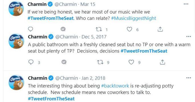 Charmin hashtag campaign