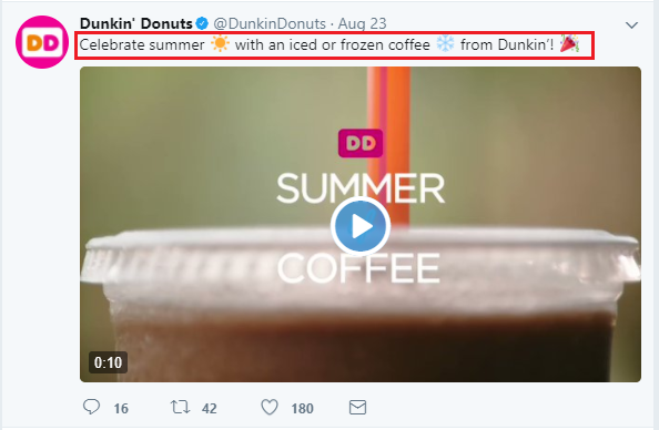 Dunkin donuts offering iced coffee to cool down your summer season