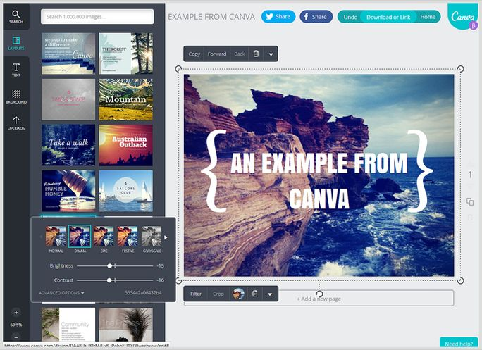 Edit image with Canva
