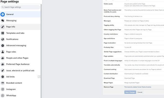 Facebook-Page-Delete