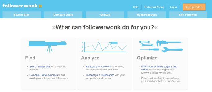 Twitter management tool - FollowerWonk