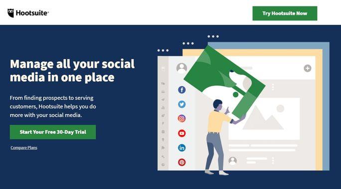 Social media management tool - Hootsuite