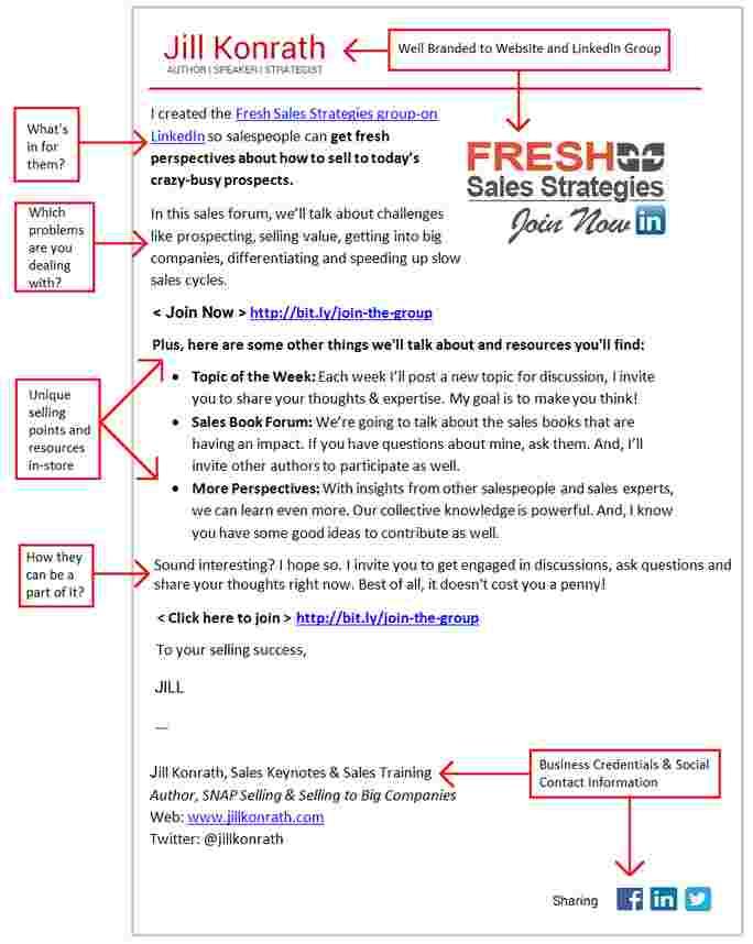 Linkedin group invitation mail