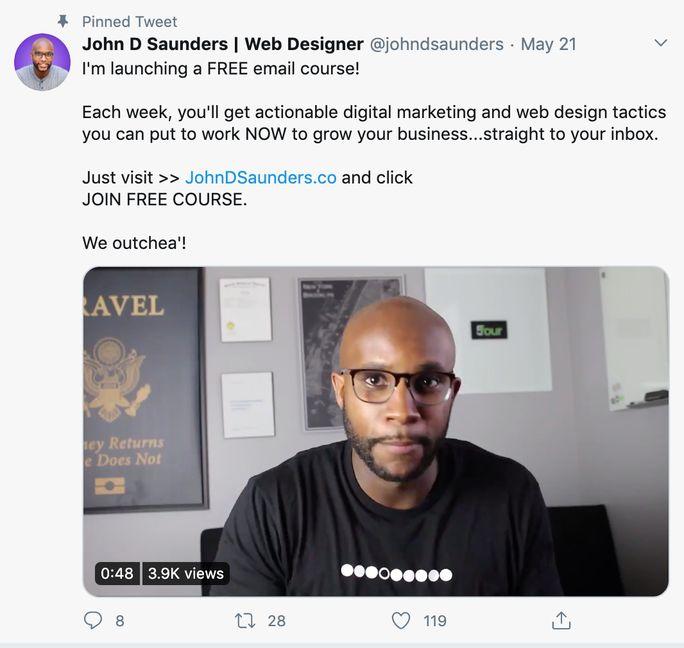 John D Saunders tweet