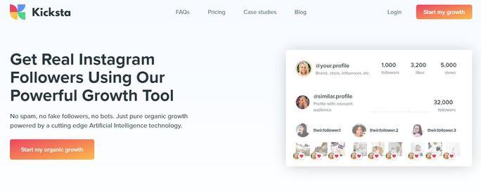 Instagram automation tool - Kicksta