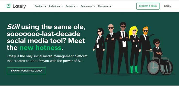 Social media management tool - Lately