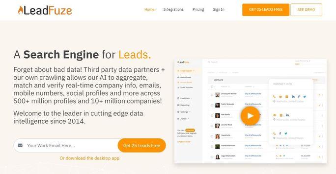 Social media tool - Leadfuze