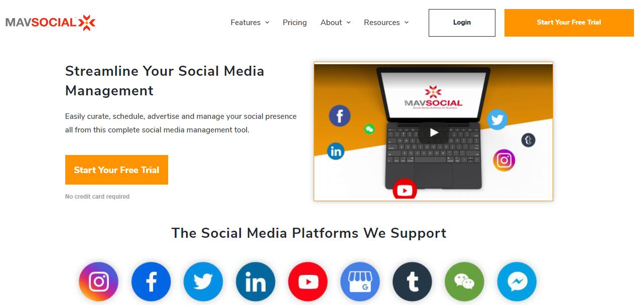 Social media management tool - MavSocial