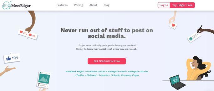 Social media calendar tool - MeetEdgar