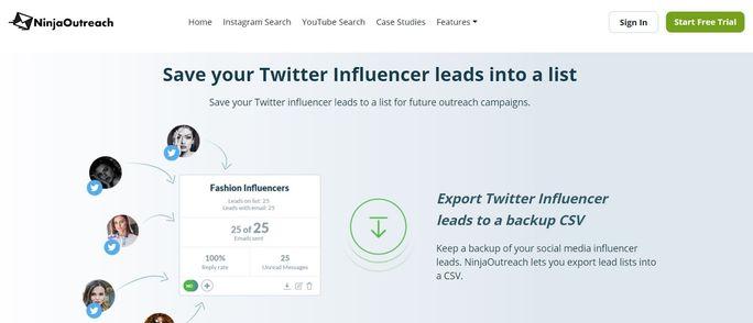Twitter management tool - Ninja OutReach