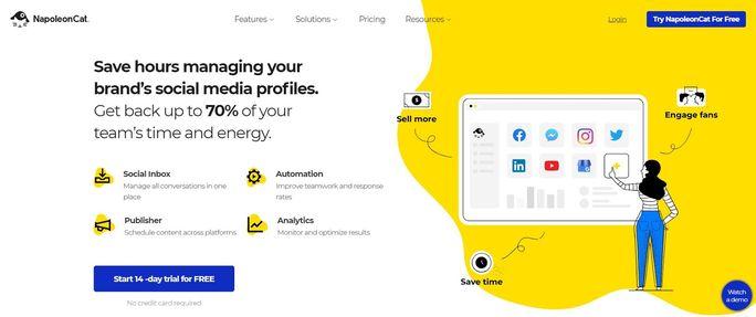 Social media tool - NapoleanCat