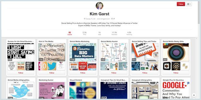 Pinterest board with keyword