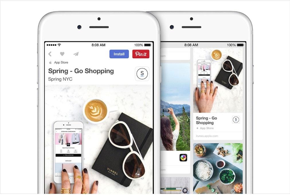 Pinterest App Pins
