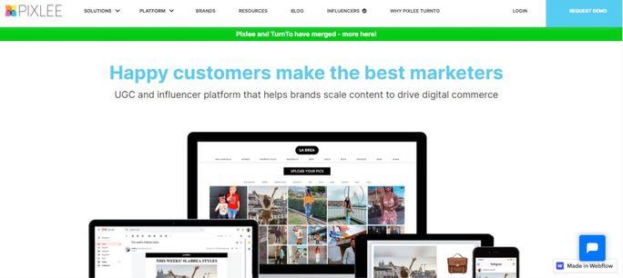 Pixlee-Homepage