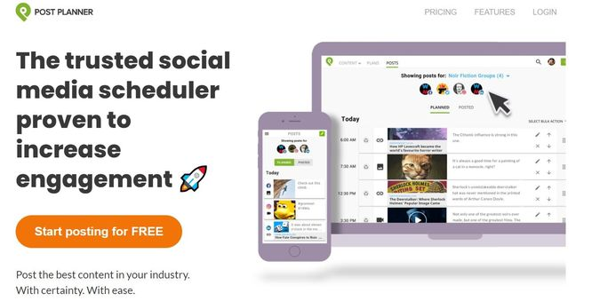 Social media management tool - Post Planner
