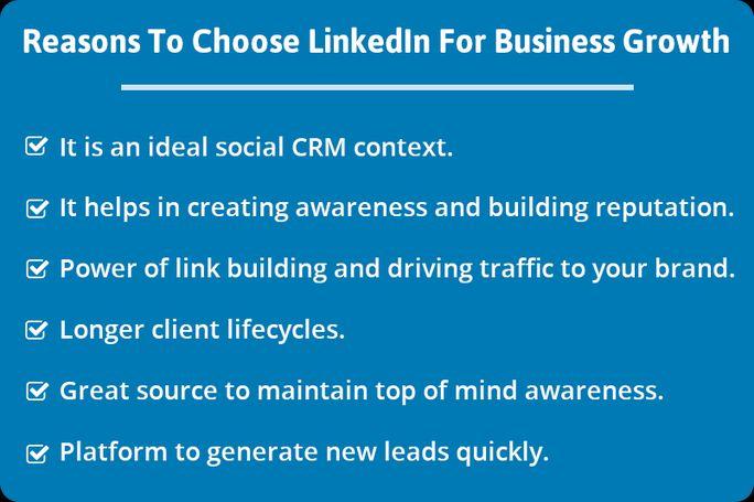 Reasons of choosing LinkedIn for business