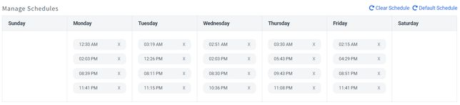 Set a post schedule