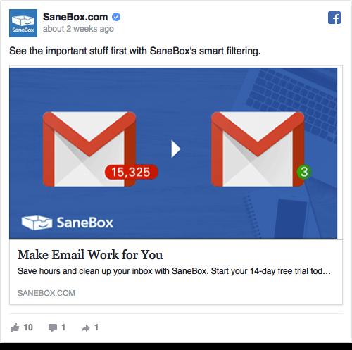 Sanebox Ad