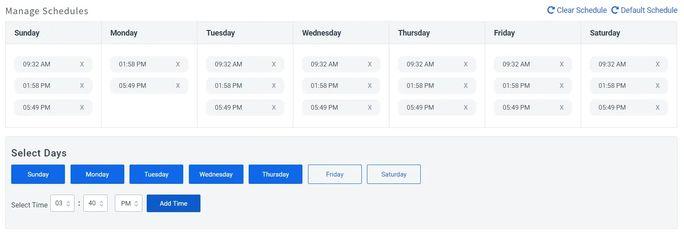 LinkedIn scheduling tool dashboard