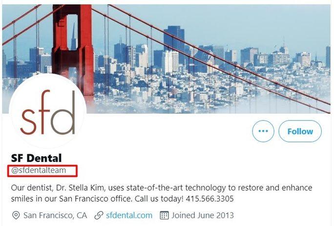 Sfdental-service-twitter-handle