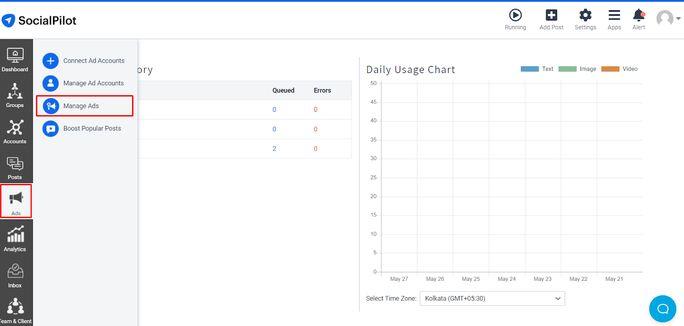picture of SocialPilot dashboard