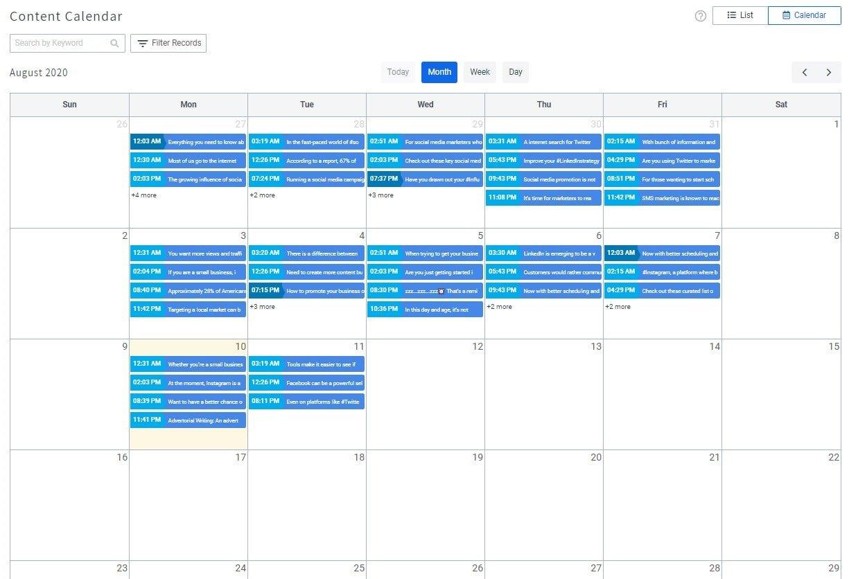 SocialPilot social media calendar