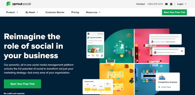 Social media management tool - Sprout Social