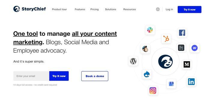 Social media calendar tool - StoryChief