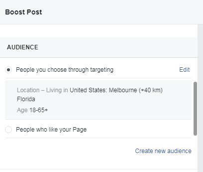 Audience targeted based on demographics