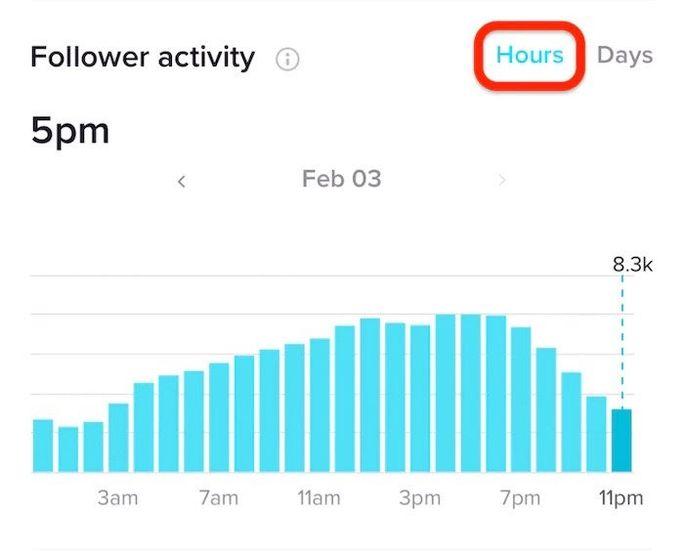TikTok followers activity