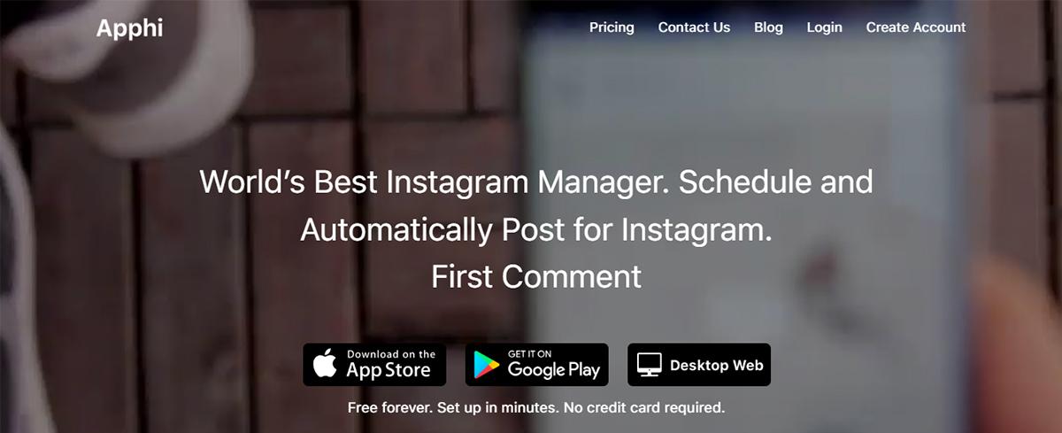 Instagram scheduling tools - Apphi