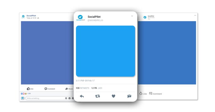 Customized posting for Facebook, Twitter and LinkedIn