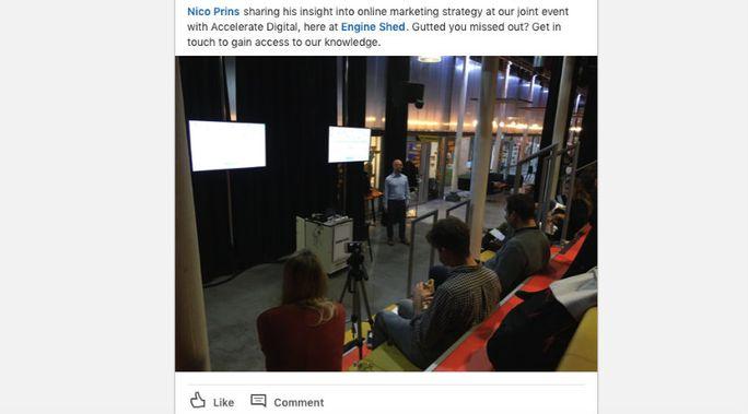 Linkedin events marketing