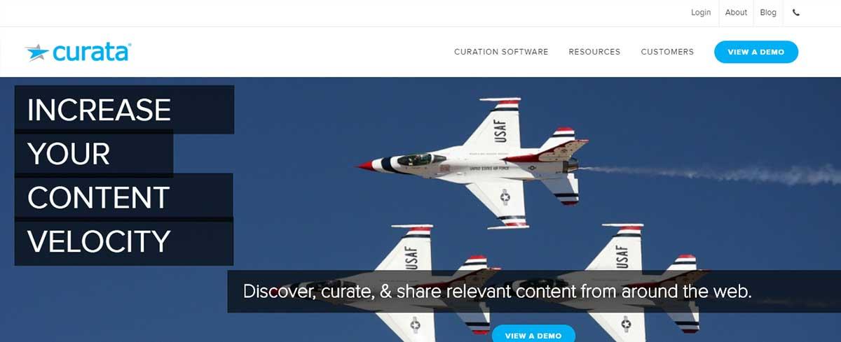 Content curation tool - Curata