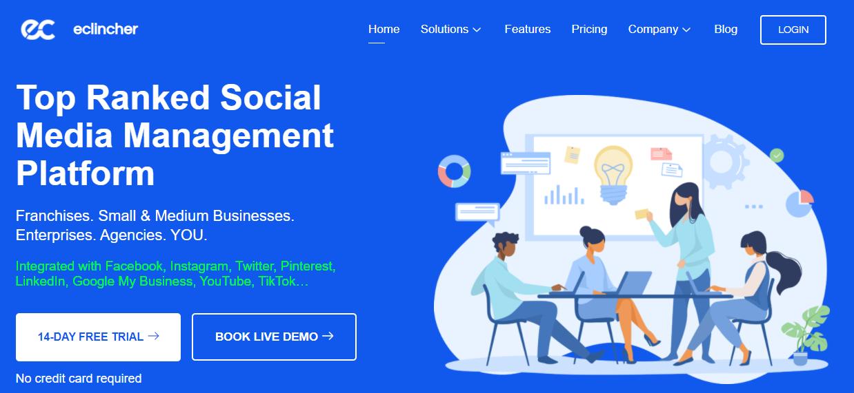 Social media management tool - eClincher