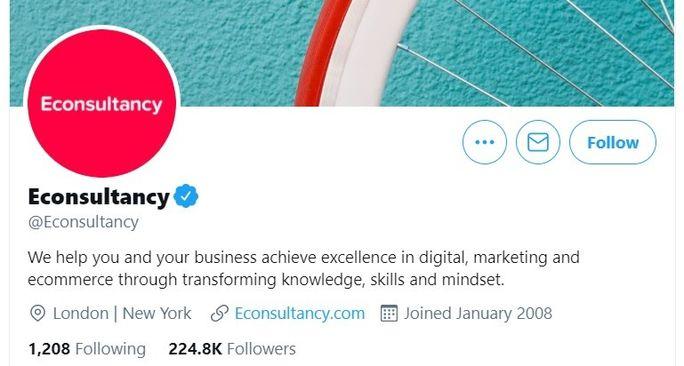 Econsultancy - Twitter bio