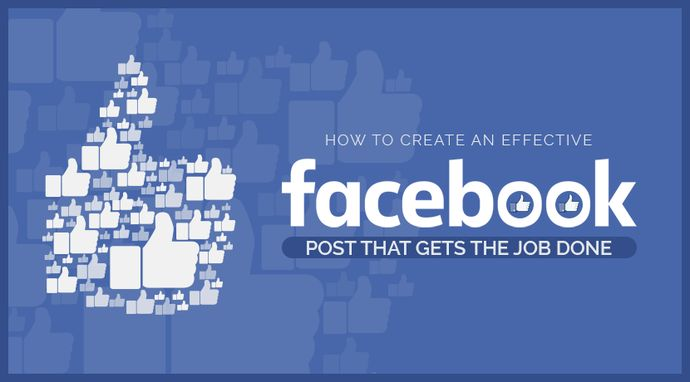 Effective Facebook post that gets the job done