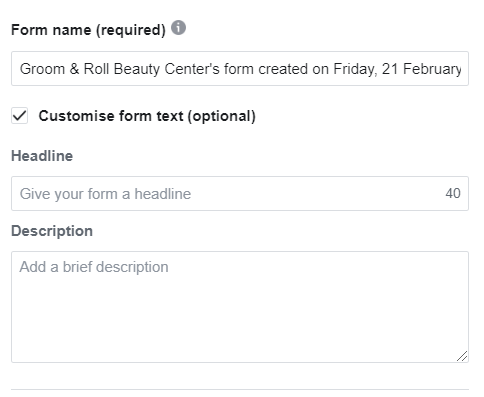 fill up the form