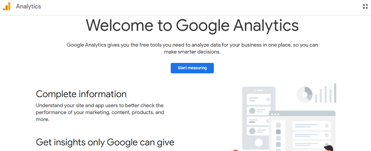 Social media analytics tool - Google Analytics