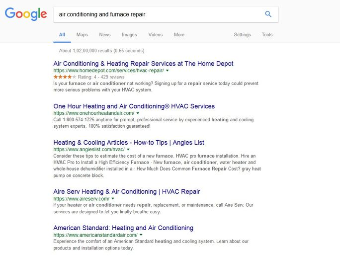 Search terms that are relevant to their business