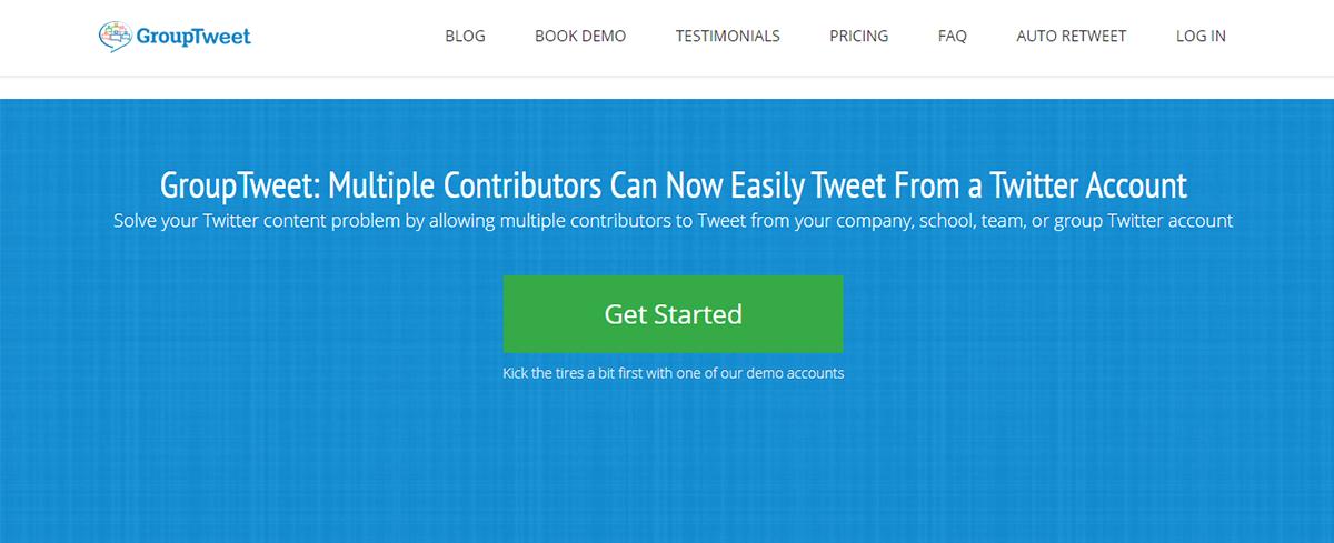 Twitter management tool - GroupTweet