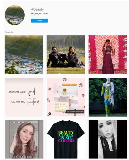 Beauty hashtags for Instagram
