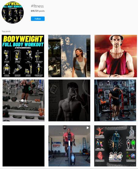 fitness hashtags for Instagram