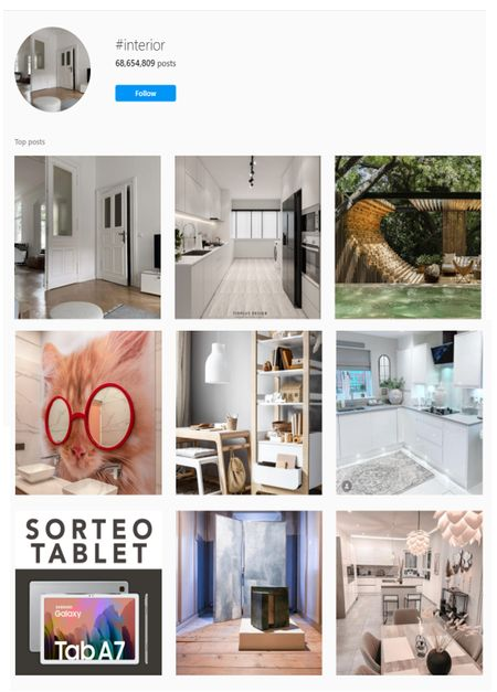 Interior  hashtags for Instagram